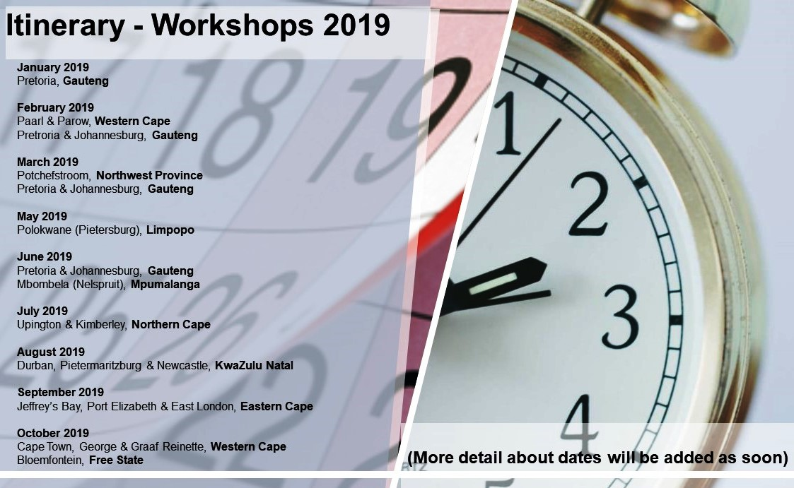 Aquilla Training Itinerary Workshops 2019